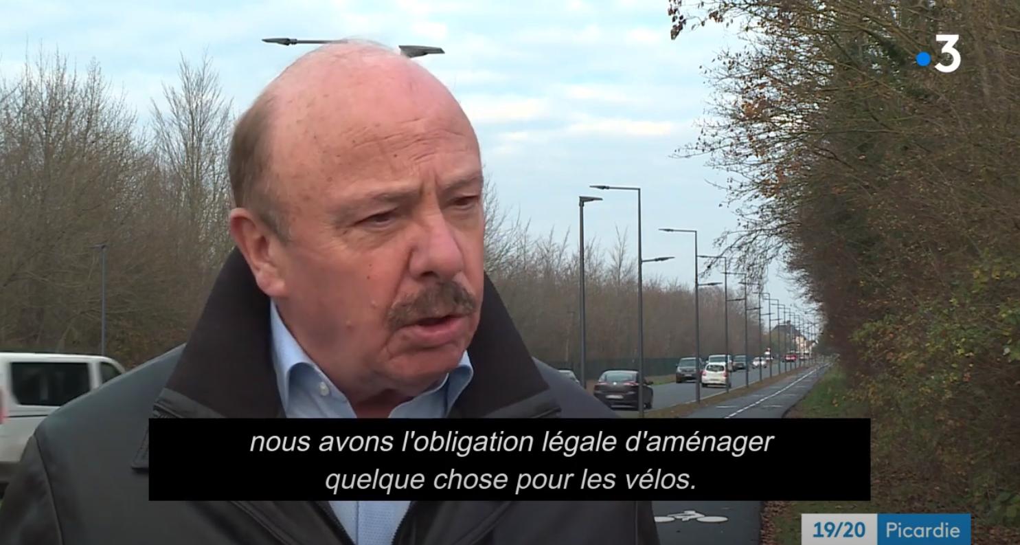 Alain Gest sur FR3 : «Nous avons l'obligation légale de prévoir quelque chose pour les vélos»